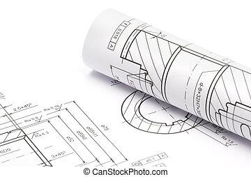ingeniería, planos