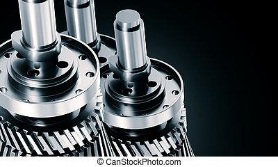 ingeniería, y, mecánico, máquina, plano de fondo