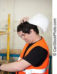 ingeniero, en el trabajo