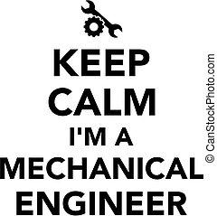 ingeniero, mecánico, calma, retener