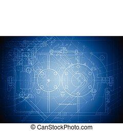 ingenjörsvetenskap, high tech, teckning