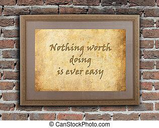 ingenting, någonsin, worht, lätt