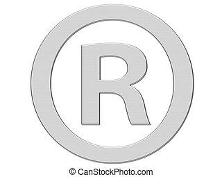 ingeschreven, symbool