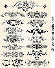 ingewikkeld, communie, ontwerp, calligraphic