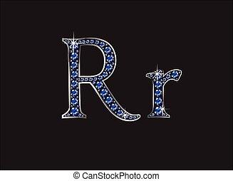 ingioiellato, font, rr, zaffiro