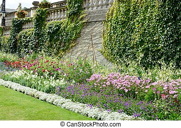 inglés, verano, jardín