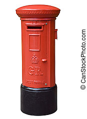 inglês, caixa, poste