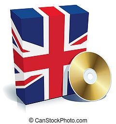 inglês, software, caixa