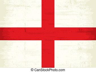 inglaterra, rasguñado, bandera