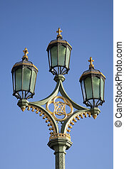 inglaterra, westminster, lamppost, reino unido, londres,...