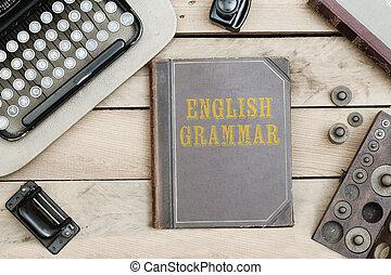 Ufficio Scrivania In Inglese : Lavori ufficio vendemmia coperchio libro scrivania vecchio