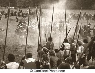 inglese, guerra civile, battaglia