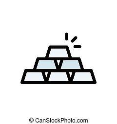 ingot flat color icon