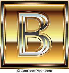 Ingot Font illustration Letter B