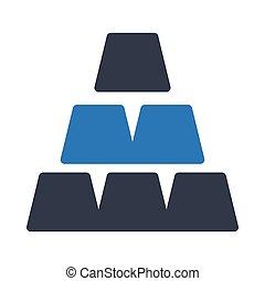 ingot glyph color vector icon