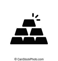 ingot glyph flat icon