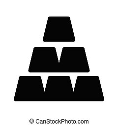 ingot glyph flat vector icon