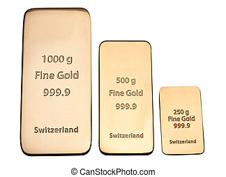 Bar of high quality gold. Favourable investment.