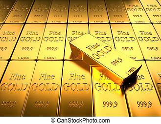 ingot, ouro