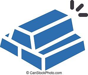 ingot vector glyph colour icon