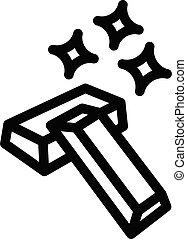 ingot vector thin line icon