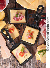 ingrédient, fromage, raclette