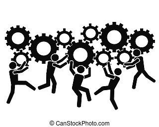 ingranaggi, lavorativo, squadre