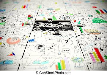 ingranaggi, sotto, uno, pezzo mancante, di, uno, puzzle