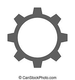 ingranaggio, singolo, icona