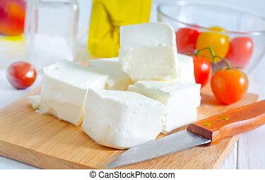 ingrediens, för, grekisk sallad