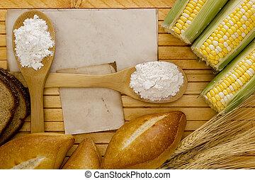 ingredienten, broodbakken