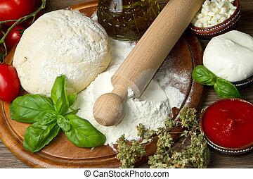 ingredienten, pizza