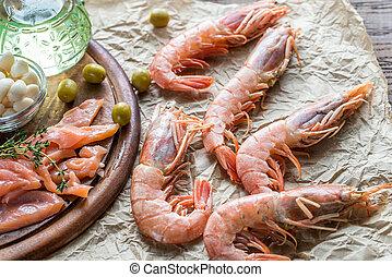 ingredienten, voor, mediterraan dieet