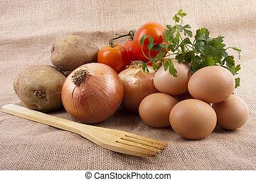 ingredientes, de, la, cocina, tradicionalq