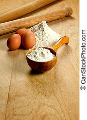 ingredientes frescos pasta