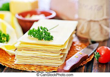ingredientes, para, lasanha