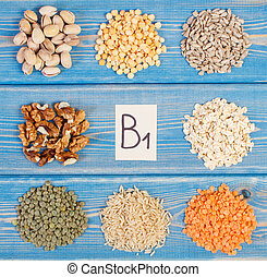 Ingredients containing vitamin B1 and dietary fiber -...