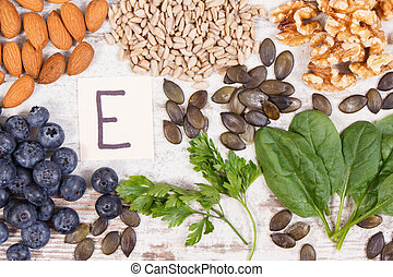 Ingredients containing vitamin E, natural minerals and...
