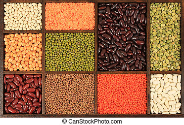 Ingredients - Cuisine choice. Cooking ingredients. Beans, ...