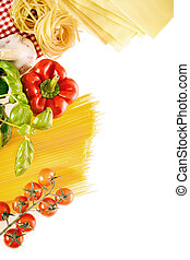 Ingredients for a healthy Italian pasta