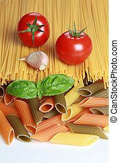 Ingredients for a pasta meal