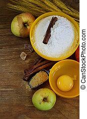ingredients for baking apple pie
