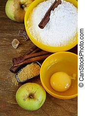 ingredients for baking apple pie