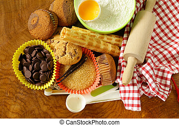 ingredients for baking desserts