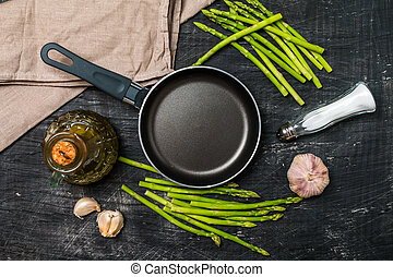 Ingredients for cooking asparagus