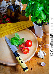Ingredients for cooking italian food