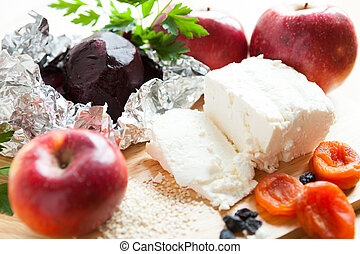 ingredients for nutritious winter salad