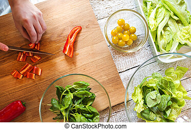 Ingredients for salad