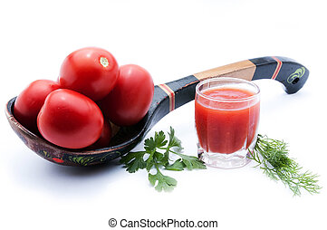 Ingredients for the preparation of tomato