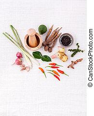 ingredients., jadło, gotowanie, -, jadło., ludowy, thai, ciasto